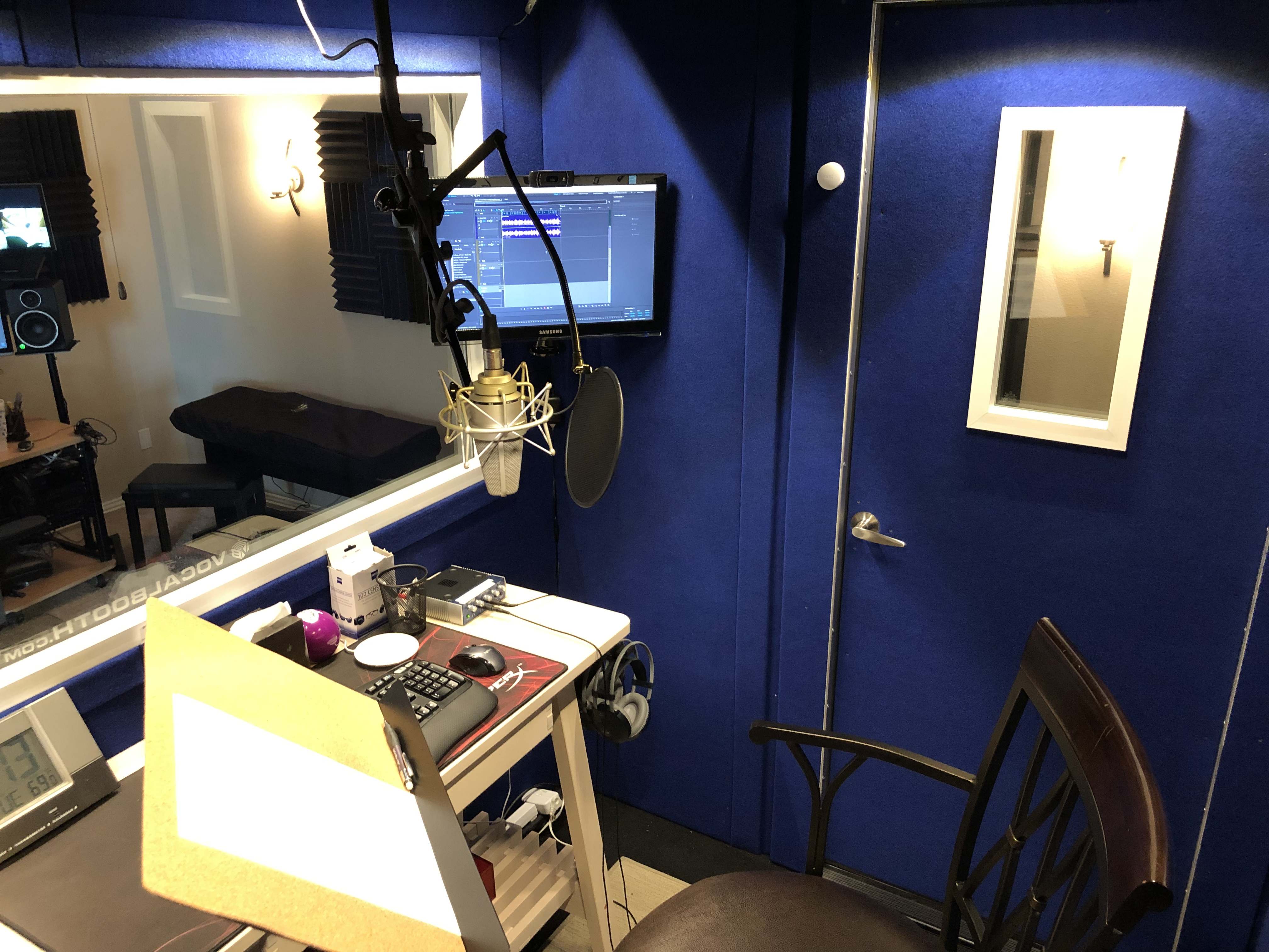 My recording booth by Vocalbooth.com. (Click to enlarge)